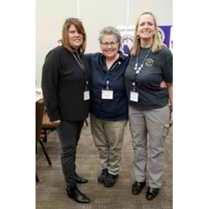 (from right) Connie Smallman, Wendy Stuhr, and Vicki O'Leary, NABTU Committee Chair