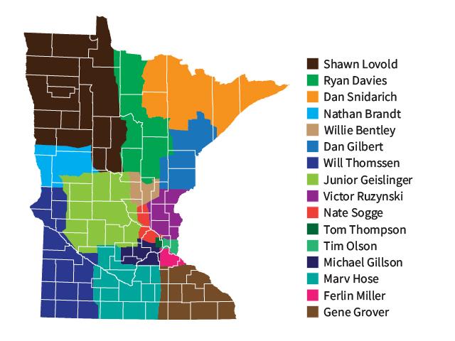 Minnesota agent territory map